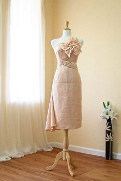 rose bridesmaid dress