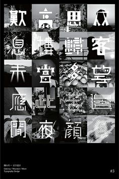 Typographic poster design 澳門雙年展
