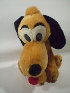 "Vintage Walt Disney Disneyland 11"" PLUTO Stuffed Plush Dog"