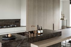 Tempory Brown marble available at Stone Creation Schepdaal Belgium Juma Architects