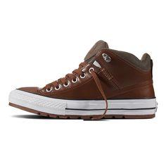 Converse Herren robuste Sneaker Chuck Taylor All Star Street Boot High  Braun  fashion  kleidung de4d550912