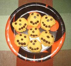 Halloween - Foods: Shortbread Jack-o-lantern Cookies