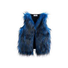 Disney D-signed Descendants 2 Girls 7-16 Blue Faux-Fur Vest, Blue Other