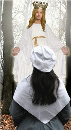 On October a year after the Marian apparitions at Lourdes, France; Mary, the Queen of Heaven is alleged to have appeared three separate times in Northeastern Wisconsin to Adele Brise. (Recreated in the image above.) © JMCOM All Rights reserved. Adele, American Catholic, Catholic Online, Family News, Queen Of Heaven, Mama Mary, Our Lady Of Lourdes, Religious Images, Blessed Virgin Mary