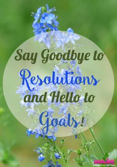Ever feel discouraged by how quickly you give up on your New Year's Resolutions? Stop beating yourself and start setting goals instead! Learn why you need to say goodbye to resolutions and hello to goals this New Year!
