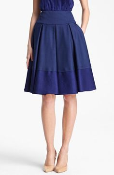 Oscar de la Renta Contrast Band Skirt available at #Nordstrom