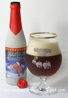 Delirium Christmas (Noël)  Reminds me of the customary way in which beer is served in Germany.  Must go back.