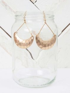 Altar'd State Textured Crescent Earrings