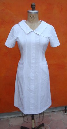 Vintage 60s White NURSES Hospital Uniform by SweetPickinsShop, $44.00
