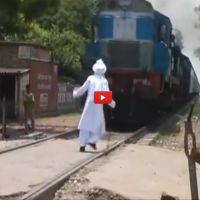 Old Man Vs Train http://www.interestingfunfacts.com/old-man-vs-train.html