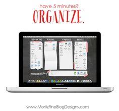 Chalkboard Computer Desktop Wallpaper Organizer, organize your computer desktop in 5 minutes!