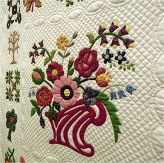 Close-up, 1850 Album by Patricia Bliss, 2013 Arizona Quilters' Guild show, photo by Quilt Inspiration
