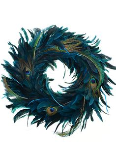 Do It Yourself Weddings: Peacock Wreaths For Your Wedding