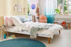 Frisch, fröhlich, Frühling! Cumulus, Bed, Furniture, Home Decor, Arredamento, Home Decoration, Natural Living Rooms, Bedroom, Pastel Colors