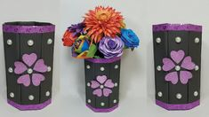 How to make Paper Flower Vase at home | DIY Simple Paper Craft Home Decoration || Paper Crafts easy Paper Flower Vase, Flower Vases, Easy Paper Crafts, How To Make Paper, Home Crafts, Decoration, Simple, Diy, Home Decor
