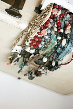 handcrafted necklaces by Rebecca Sower, via Flickr