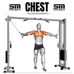 Chest Workout For Men, Chest Workout Routine, Chest Workouts, Cable Workout, Gym Workout Videos, Gym Workouts, Fitness Gym, Muscle Fitness, Mens Fitness