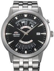 Orient Multi-Calendar Automatic Watch with Black Dial, 42mm Stainless Steel Case…