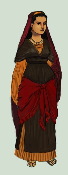 Chapter 7 nabucco babylonian women costume sketch by mattie ullrich jewish woman from about 10th to 6th century bc ancient judah by tadaridaiantart publicscrutiny Images