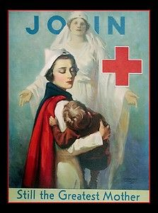 ☞ MD ☆☆☆ Canvas Art Print of Join The Red Cross 1919 Nurse Child Mother Image | eBay.