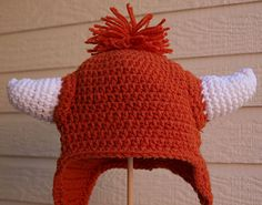 University of Texas Longhorns Baby Longhorn Earflap Hat - Sized 0 to 6 Months - READY TO SHIP
