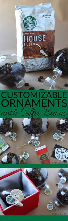 Create the perfect customizable ornament for all the coffee lovers on your gift…