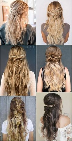 half up half down wedding hairstyles for 2018 by Steph #weddinghairstyles #bridalfashion #weddinginspiration