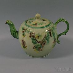 Staffordshire Earthenware Teapot | Sale Number 2672M, Lot Number 1002 | Skinner Auctioneers sold $492 2015