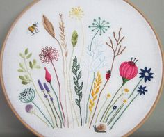 Free floral embroidery pattern