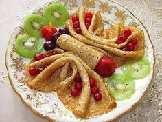 ... Sugar Carrot Cake Crepes with Cream Cheese Filling and Blueberry Sauce