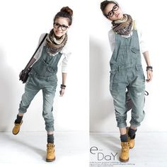 Fashion Korean Womens Overalls Denim Casual Siamese Trousers Harem Jeans Pants    Clothing, Shoes & Accessories, Women's Clothing, Pants   eBay!