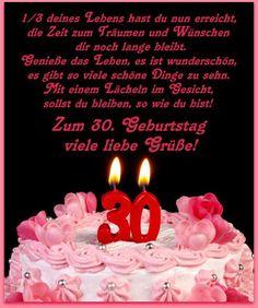Geburtstagsgrüsse Zum 30