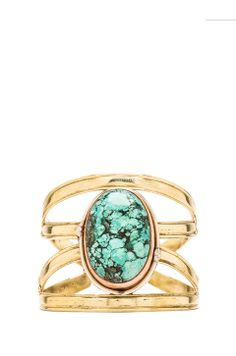 Natalie B Jewelry X Cuff in Turquoise from REVOLVEclothing