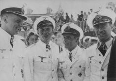 Erich Topp, Claus Korth, Engelbert Endraß and Herbert Kuppisch in Saint-Nazaire…
