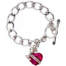 78fc5e761 Juicy couture - اسوارة جوسي كوتور باللون الفضي - FASHION KSA Heart Banner,  Heart Jewelry