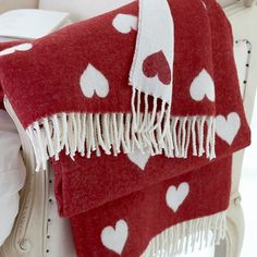 Red Heart Lambswool Throws - Cologne & Cotton