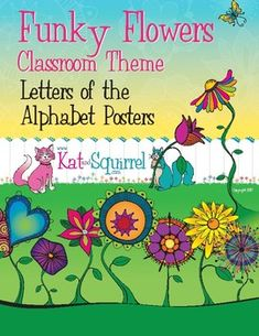 Materials Included: This beautiful product contains original funky flower artwork which includes 26 letters-of-the-alphabet posters with vowels in a different color. Be sure to check out the other Funky Flower Classroom Theme products. All artwork in this product will match the others. (This alphabet product is INCLUDED in Funky Flowers 2.)