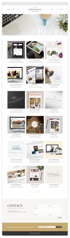 Custom Genesis Website Design by Tiffany Kelley Design :: Web Design #design #designer #graphicdesign #graphicdesigner #webdesign #webdesigner #designproject #branding #branddesign #brandidentity #photographerbranding #wordpress #genesis #brandstylist #brandstyling