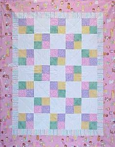 Image detail for -quilt in a weekend for a baby shower or welcome baby gift. Easy ...