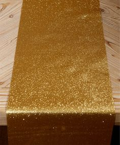 Look what I found on #zulily! Gold Glitter Table Runner #zulilyfinds