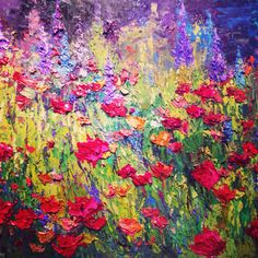 """""""Springs New Hope""""20x24 original palette knife oil painting by Peggy Ann Thompson  painterschairfineart.com"""