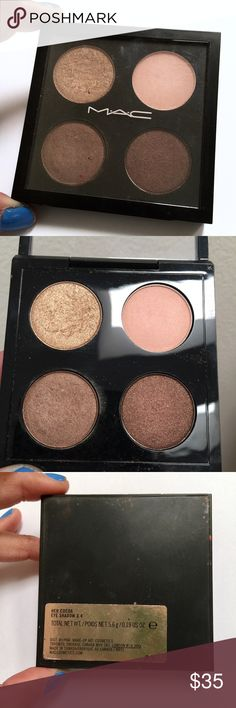 """Mac eyeshadow quad riri """"her cocoa"""" palette Lighty used quad! No trade MAC Cosmetics Makeup Eyeshadow"""