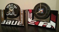 Hockey Desk Clock Hockey Stick Furniture