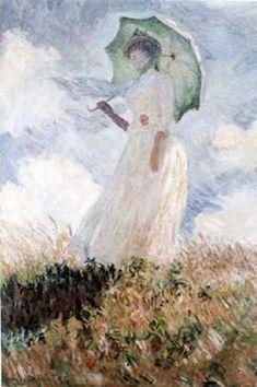 Woman with Umbrella - Claude Monet - Canvas
