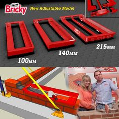 Build your brick and block walls straight - adjustable Bricky guide