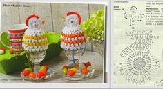 Szydełkowe dziergadła - Hawwa57: marca 2014 Love Crochet, Hand Crochet, Crochet Hats, Holiday Crochet Patterns, Bolero Pattern, Fillet Crochet, Easter Crochet, Christmas Decorations, Christmas Ornaments
