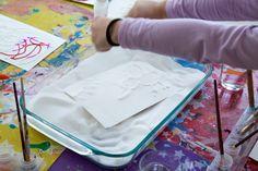 Raised Salt Painting - Adding Salt to Glue Drawing