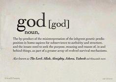 god, noun
