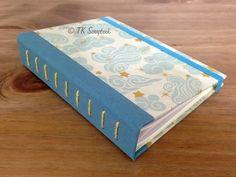 Caderno com encadernação paralela em tecido #tkscrapbook