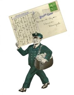 Pocket Letter, Cool Mailboxes, Architectural Mailboxes, Paper Collage Art, You've Got Mail, Going Postal, Do It Yourself Crafts, Vintage Stamps, Happy Mail